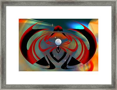 The Moon In Cancer Framed Print by rd Erickson