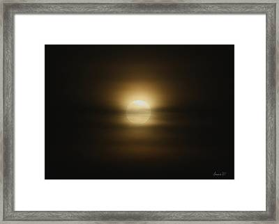 The Moon In June Framed Print