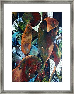 Framed Print featuring the painting The Moon Is A Balloon by Rae Andrews