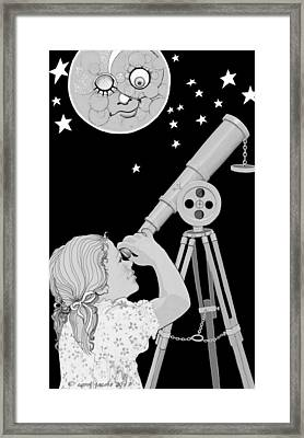 The Moon Looks Back Framed Print by Carol Jacobs