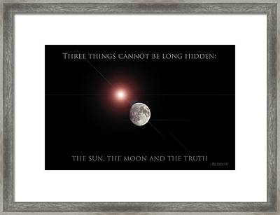 Framed Print featuring the photograph The Moon by Pennie  McCracken