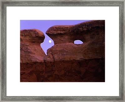The Moon Rises Between Spectacular Framed Print by Jerry Ginsberg