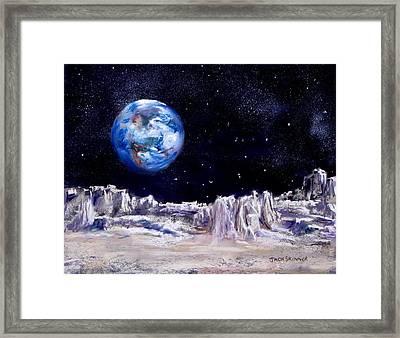 The Moon Rocks Framed Print by Jack Skinner