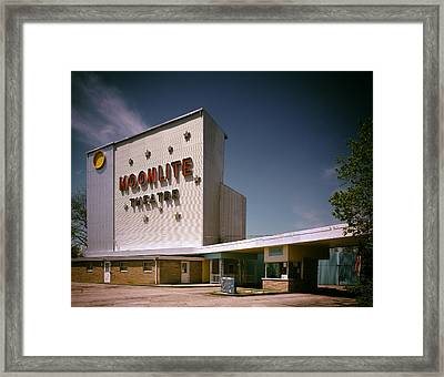 The Moonlite Drive In Theatre Framed Print by Mountain Dreams