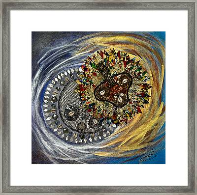 The Moon's Eclipse Framed Print by Apanaki Temitayo M