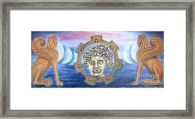 The Moons Of Infinite Time Framed Print by Anna Maria Guarnieri