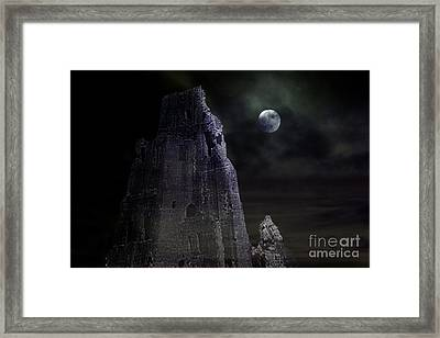 The Moonshine On The Castle Framed Print by Terri Waters
