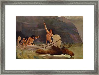 The Moose Hunt Framed Print by Mountain Dreams