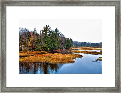 The Moose River In The Adirondack's Framed Print