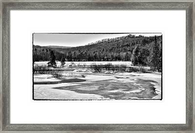 The Moose River In Winter - Old Forge New York Framed Print by David Patterson