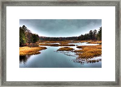 The Moose River - Old Forge New York Framed Print by David Patterson