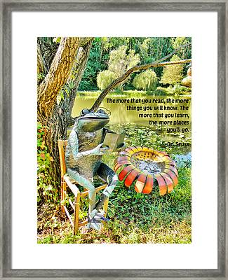 The More That You Read... Framed Print