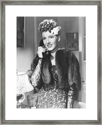 The More The Merrier, Jean Arthur, 1943 Framed Print by Everett