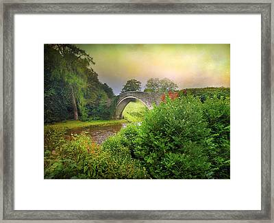 Framed Print featuring the photograph The Morning Bridge by Roy  McPeak