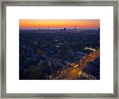Framed Print featuring the photograph The Morning Bus by Keith Armstrong