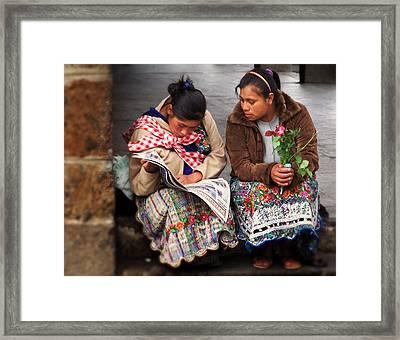 The Morning News Framed Print by Ramon Fernandez
