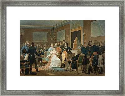 The Morning Of The 18th Brumaire 1799 Framed Print by Henri-Frederic Schopin