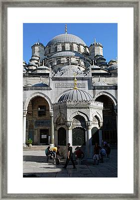 The Mosque Of Sultan Ahmet (blue Mosque Framed Print