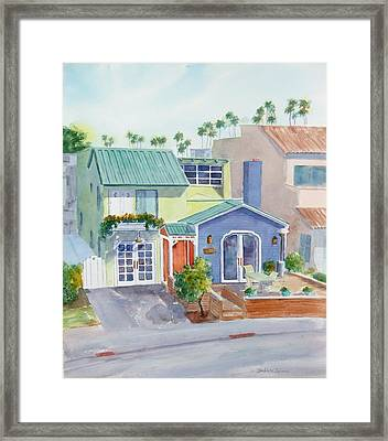 The Most Colorful Home In Belmont Shore Framed Print by Debbie Lewis