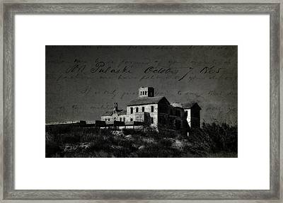 The Most Haunted House In Spain. Casa Encantada. Welcome To The Hell Framed Print