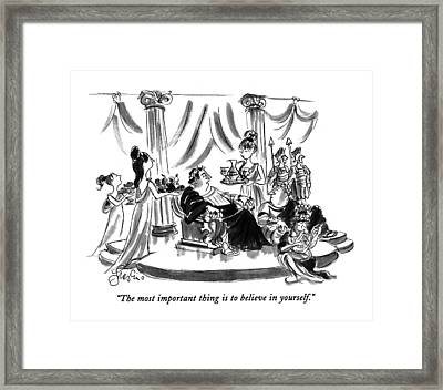 The Most Important Thing Is To Believe Framed Print by Edward Frascino