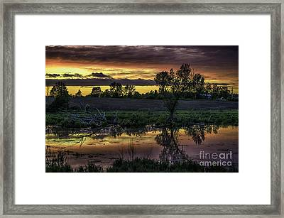 The Most Perfect Sunset Framed Print