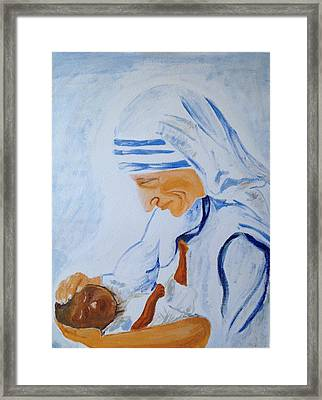 The Mother Framed Print by Brindha Naveen