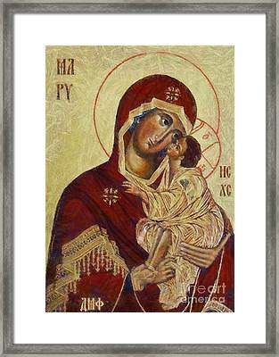 The Mother Of God -the Don Icon Framed Print