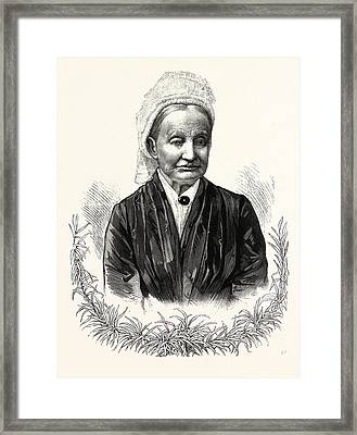 The Mother Of President-elect Garfield. Eliza Ballou Framed Print by American School
