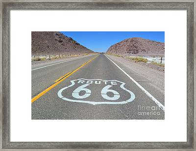 Framed Print featuring the photograph The Mother Road by Utopia Concepts