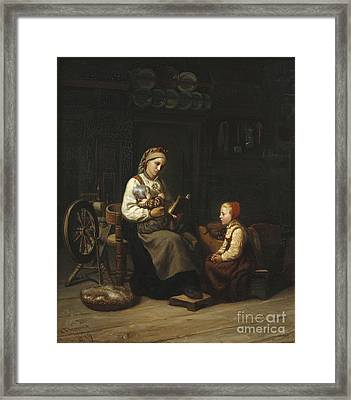 The Mothers Teaching Framed Print