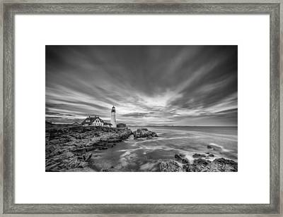 The Motion Of The Lighthouse Framed Print by Jon Glaser
