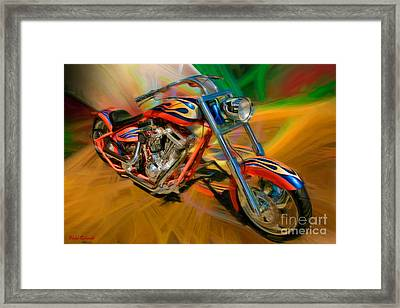 The Motorcyclerow Framed Print by Blake Richards