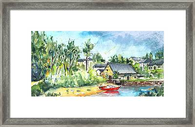 The Moulin De Pomper In Brittany 02 Framed Print