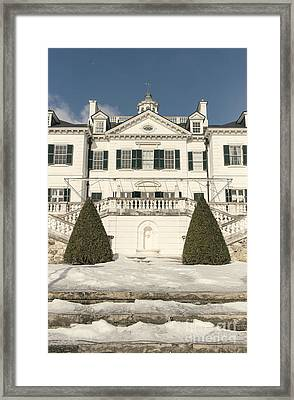 The Mount Edith Warton Estate Lenox Ma Framed Print by Edward Fielding