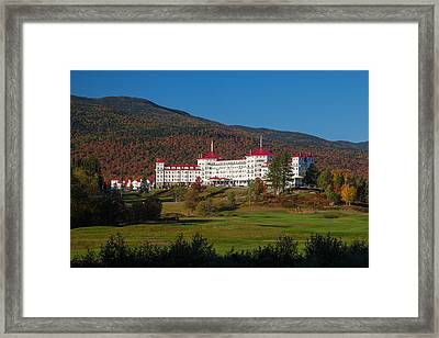 The Mount Washington Hotel In Autumn Framed Print