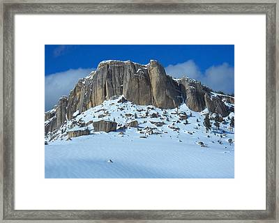 Framed Print featuring the photograph The Mountain Citadel by Michele Myers