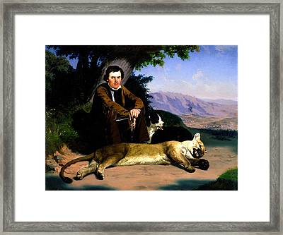 The Mountain Lion Framed Print by Charles Nahl