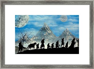 The Mountain Path Framed Print