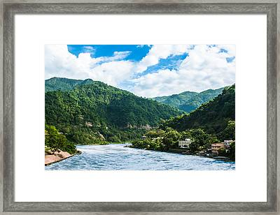 The Mountain Valley Of Rishikesh Framed Print