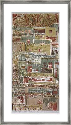 The Mountain Village Framed Print