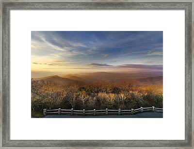 The Mountains Of Brasstown Bald Framed Print