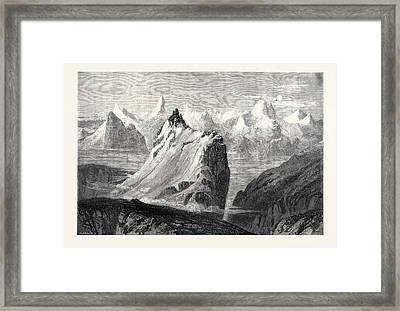 The Mountains Of The Oberland From The Faulhorn Framed Print