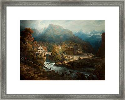 The Mountains Of Vietri Framed Print