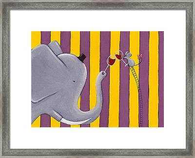 The Mouse And The Elephant Framed Print by Christy Beckwith
