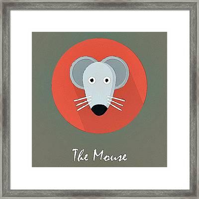The Mouse Cute Portrait Framed Print by Florian Rodarte