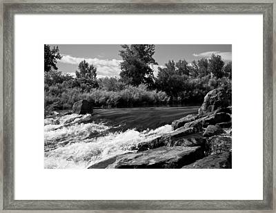 The Mouth Of The River Bw Framed Print