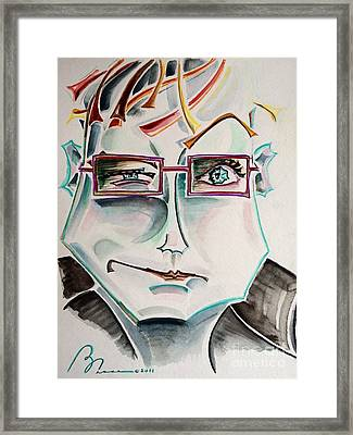 The Movie Critic Framed Print by Barbara Chase