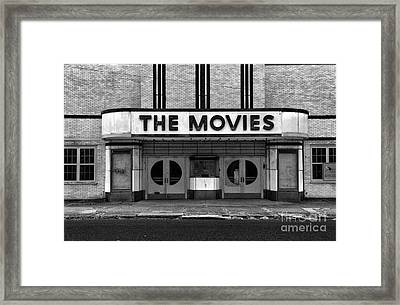 The Movies - Black And White Framed Print by Paul Ward