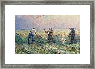 The Mowers In The Outskirts Of Lagny Framed Print by Henri Lebasque